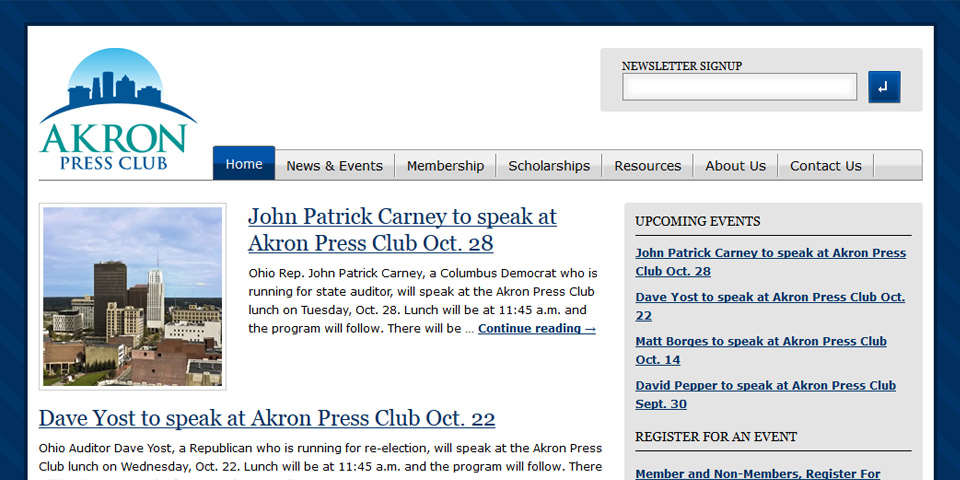 The Akron Press Club Design