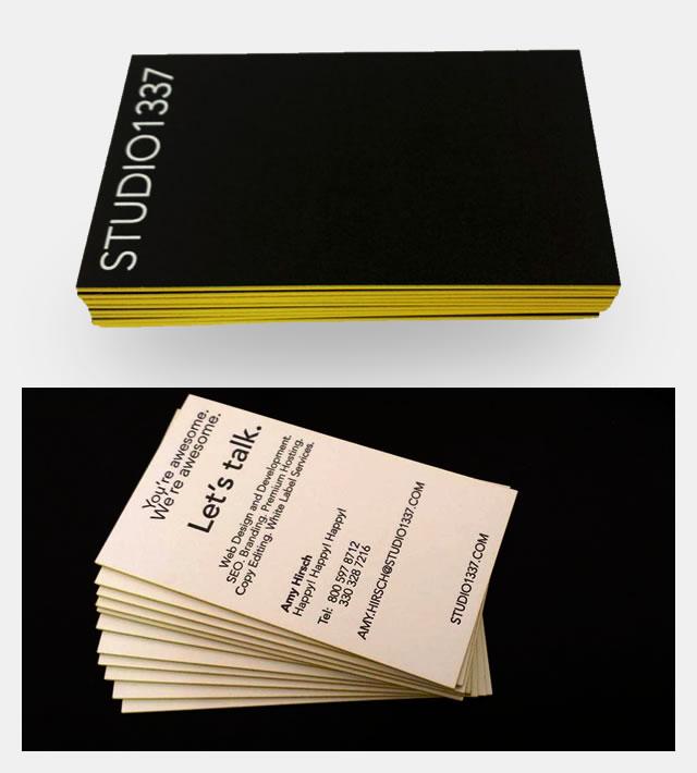 Studio1337 business cards