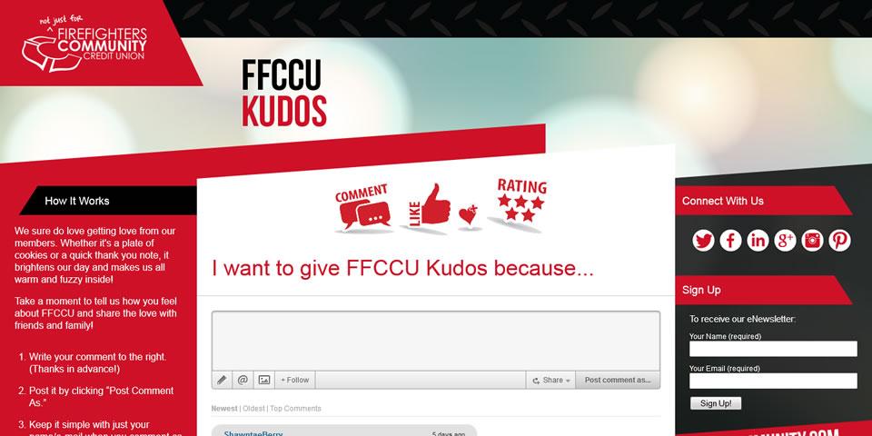 Website design of KudosFFCCU.com